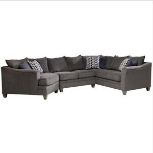 3 Piece Navy Blue Albany Sofa Sectional