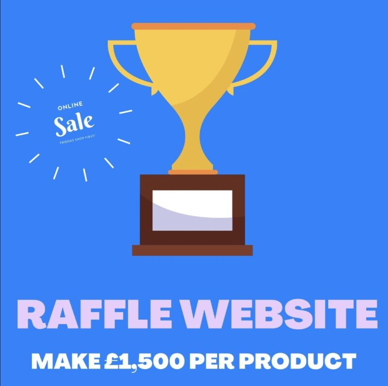Online Competition Raffle Business Website | FREE MARKETING DOMAIN HOSTING