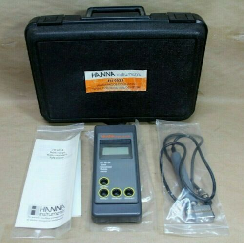 Hanna Instruments HI-9034 Waterproof TDS Meter with Probe - Brand New Free Ship