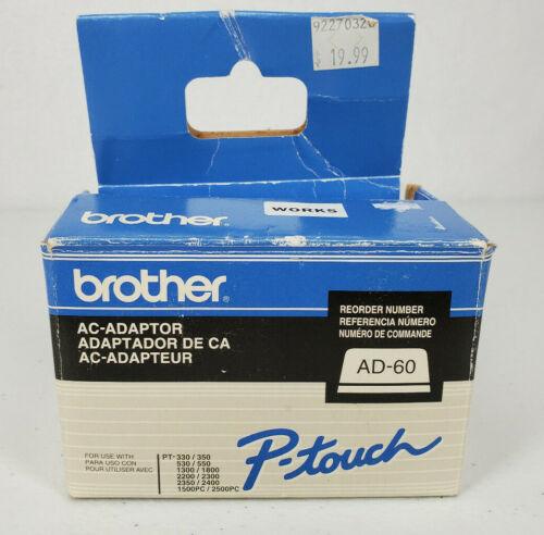 Genuine OEM Brother AD-60 Printer Power AC Adapter Class 2 Transformer  9.5VDC