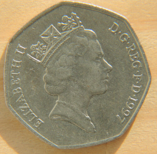 1997 GREAT BRITAIN COIN  50  PENCE