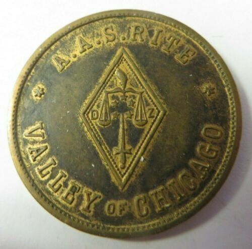 Masonic Penny Token Coin VALLEY OF CHICAGO, ILLINOIS Princes of Jerusalem