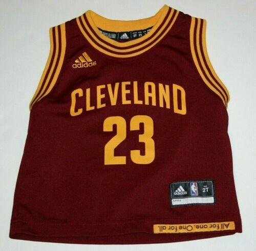 youth kids toddler 2 Adidas NBA Cleveland Cavaliers Lebron James jersey shirt
