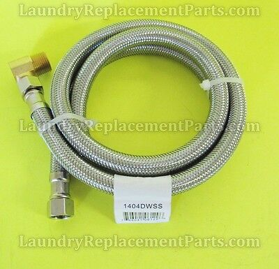 3 8 compx3 8 compx48 w elbow stainless steel dishwasher hose part 1404dwss ebay. Black Bedroom Furniture Sets. Home Design Ideas