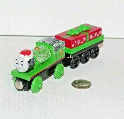 Thomas & Friends Wooden Railway Train Tank Holiday Percy w Present Car Christmas ()