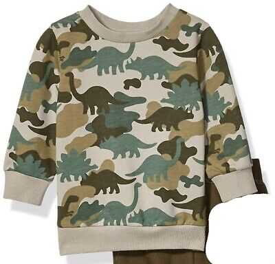 Little Me Baby Boys Sweater Green Size 18 Months Dinosaur Printed $36 705