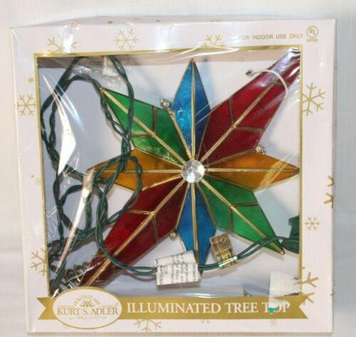 Kurt Adler 10-Light Multicolored Capiz Bethlehem Star Treetop with Gem Center-#4