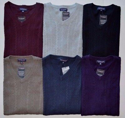 Men's Roundtree & Yorke Big & Tall Cable Knit V-Neck Sweater Vest - Mens Big And Tall Cable