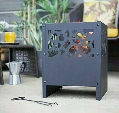 🔥 La Hacienda Fora Steel Firebasket Log Burner Fire Pit *FREE P&P*