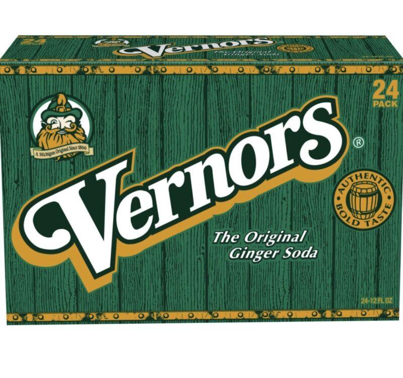 1 Pack of 24-12 oz Cans of Original Vernors Ginger Ale (Total of 288 FL oz.)