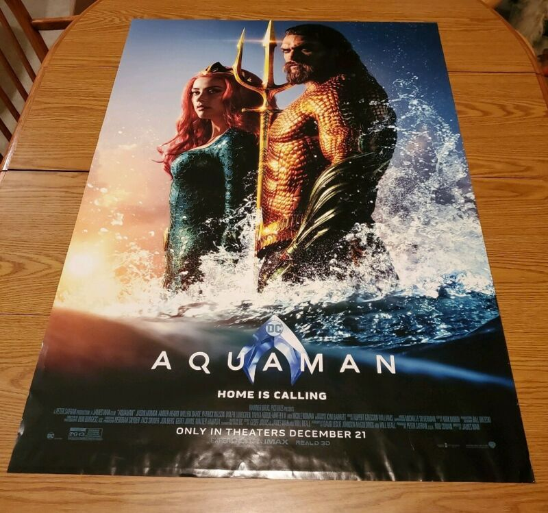Aquaman ORIGINAL DS Movie Theater Poster 27x40 DC Comics