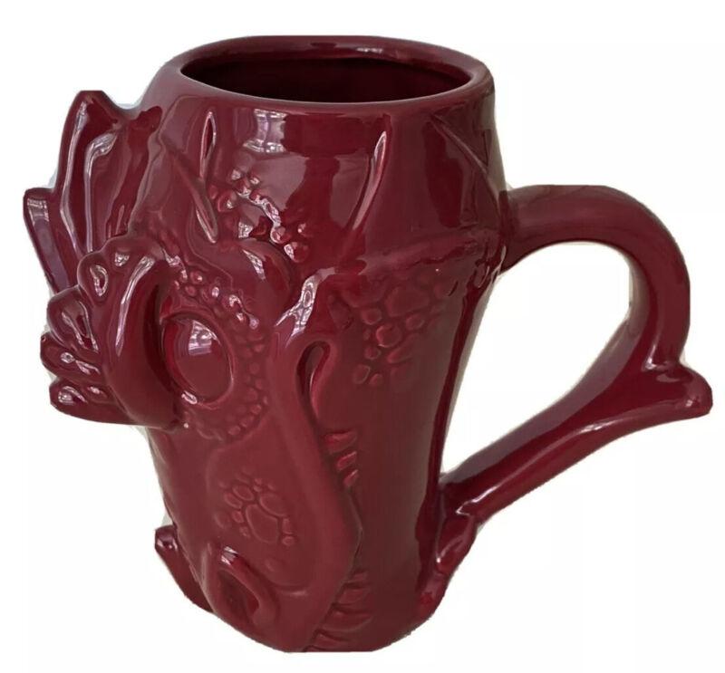 Red Dragon Head Hefty Chalice Mug