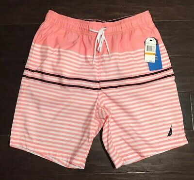 "NWT Men's Nautica Swim Trunks Coral Sands Lined 8"" Size Small"