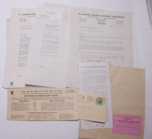 1934 Lamson Goodnow Sample NRA AJ Amberg Business Equipment NYC Ephemera L246E
