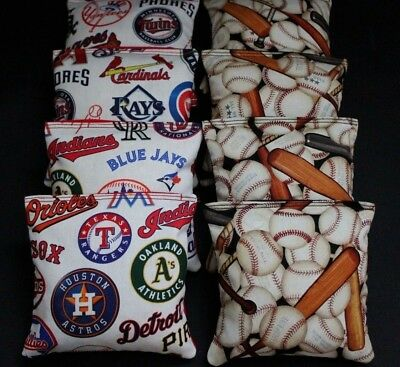 Baseball Cornhole Bean Bags 8  ACA Regulation Corn Toss Bags MLB Baseball Fans  - Baseball Bean Bag