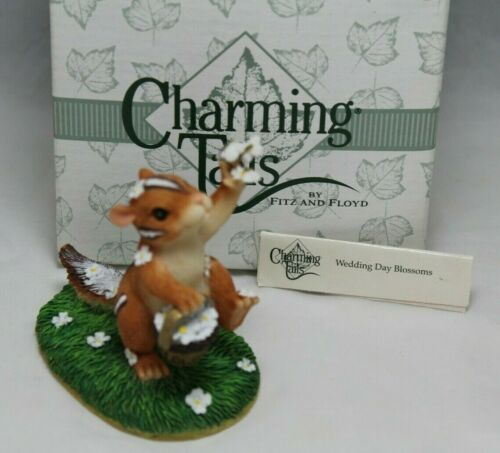 "Charming Tails ""Wedding Day Blossoms"" Chipmunk Flower Girl Figurine #82/105 NEW"