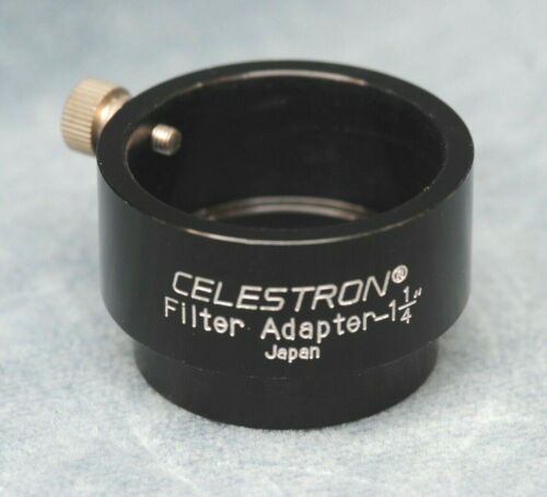 "CELESTRON TELESCOPE FILTER ADAPTER 1-1/4"", JAPAN"