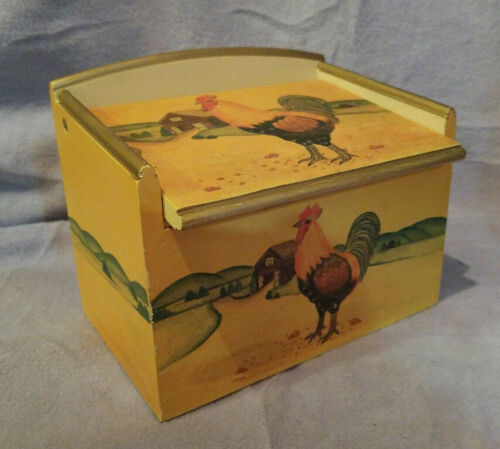 Wood Rooster Design Recipe Box