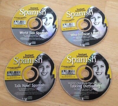 Countertop Software Instant Immersion Spanish Set Of 4 Cds  2000