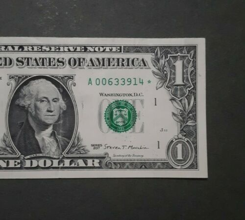 Low Serial 2017 1 Federal Reserve Replacement Star Note A 00633914  - $6.50