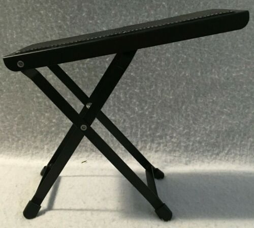 Used Guitar Foot Stool/Rest Adjustable Heights Folding Style Great Condition