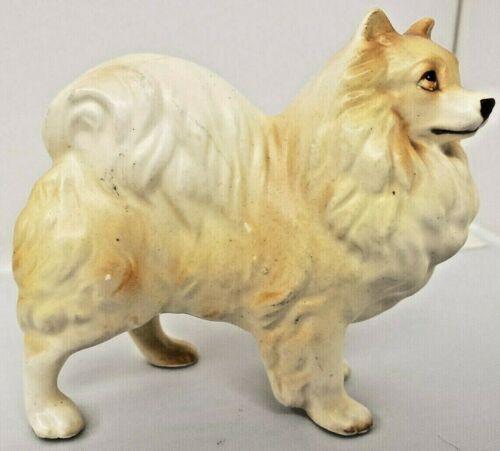 Vintage Pomeranian Dog Porcelain Figurine Made in Japan 1950