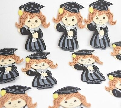 10 X DIY FAVORS GRADUATION CAP & GOWN GIRL FOAM DECORATION RECUERDOS GRADUACION - Diy Graduation Cap Decorations