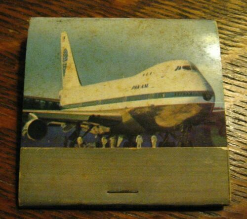 Pan Am American Airlines Matchbook - Vintage Boeing 747 PAA Jet Airplane Matches