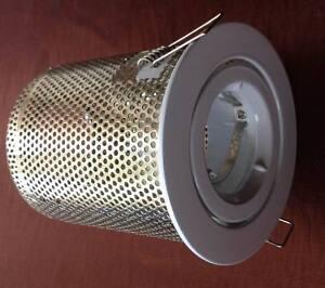 10X Gimbal white Downlight fitting +Heat Hood for MR16 12V 50W Ceiling light kit