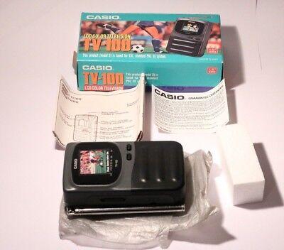 "Very Rare Casio TV-100 Handheld Colour TV 1.6"" LCD PAL"