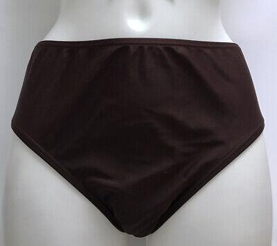 "6# Badehose Bikinihose Slip Gr 40 Braun Basic ""Octopus"" neu"