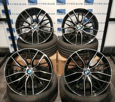 BMW 19''inch ALLOY WHEELS 3 / 4 SERIES SPOKE M SPORT WITH NEW TYRES *FOUR