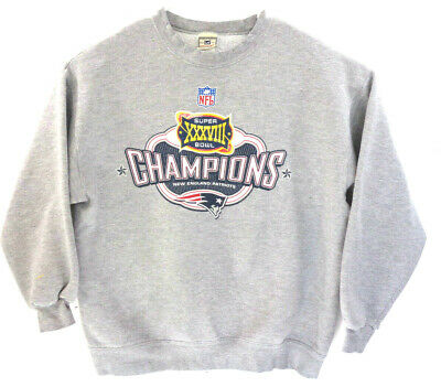 New England Patriots Super Bowl XXXVIII Champs Crewneck Sweatshirt Mens -