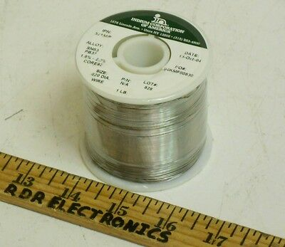 1lb Spool- Indium Corporation Of America .020 Sn63pb37 Wire Solder Core92 Flux