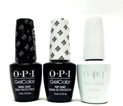 OPI Nail GelColor Gel Polish Base Coat + Top Coat + Funny Bunny GC H22 3ct Combo
