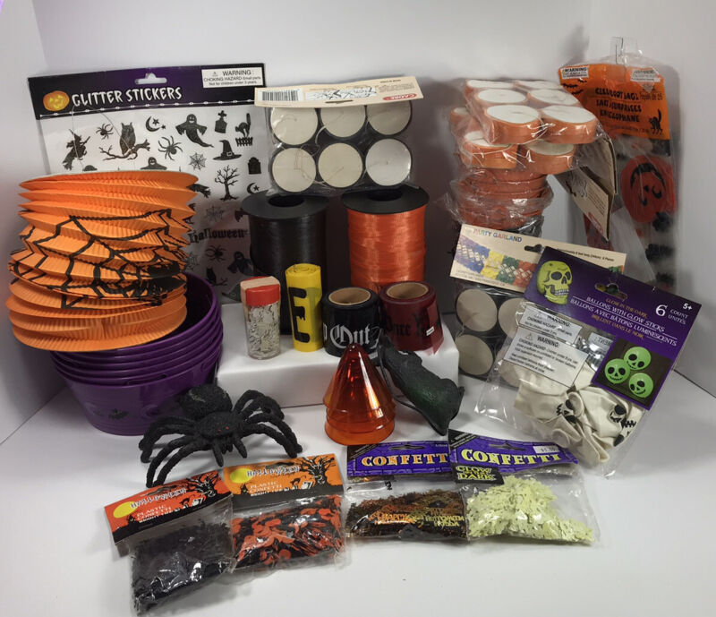 LOT Vintage Halloween party favors And Party Decor