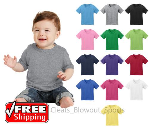 Infant  CAR54I Cotton T-Shirt Colors Plain Solid Colors Baby Tee 6 12 18 Months