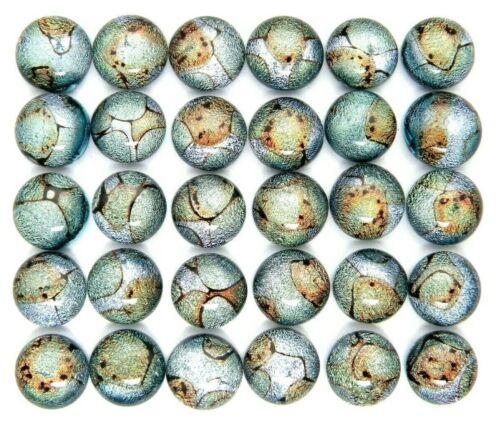 Lot 30 pcs round gorgeous DICHROIC earrings bracelet FUSED GLASS (P16) CABOCHON