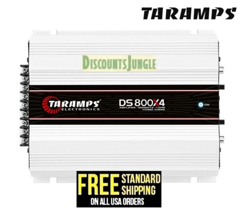 Taramps DS 800x4 - 2 Ohms Amplifier 4 Channel 800 W Compact Car Amp USA Shipping