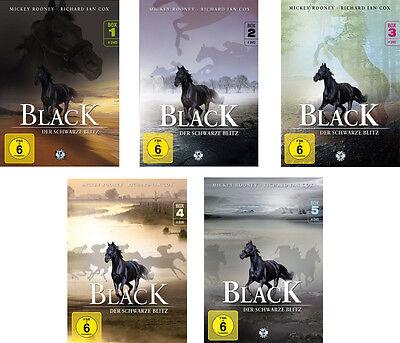 &B 20 DVDs * BLACK , DER SCHWARZE BLITZ - BOX 1 - 5 IM SET # NEU