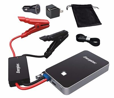 Energizer 7500mAh UL Listed Lithium Jump Starter + 2.4A Power Bank USB charger
