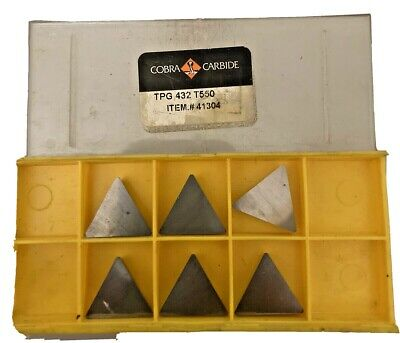 Qty6 Cobra Carbide Tpg 432 T550 Grade Carbide Inserts Metal Lathe Turning