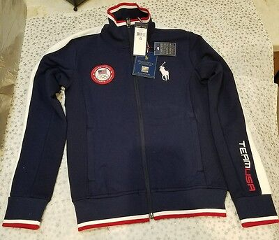 a5a9d28fff NWT Women Ralph Lauren Polo Official Team USA Olympic Track Jacket Zip  XSmall XS
