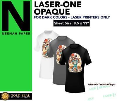 Laser 1 Opaque Dark Shirt Heat Press Machine Transfer Paper 8.5 X 11 -100 Sheets