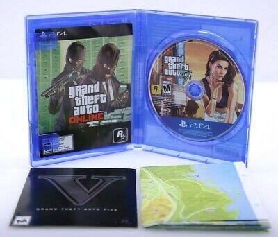 Grand Theft Auto V Five GTA5 PS4 Sony PlayStation 4 - Very Good w/ Case