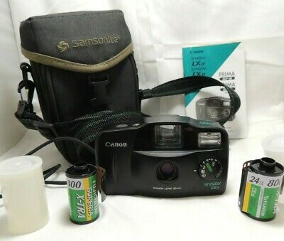 Canon Snappy LX II 35mm Point & Shoot Film Camera Owners Manual Case + covid 19 (Canon Camera Owners Manual coronavirus)