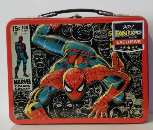 Awesome Collectible Spider-Man Lunchbox And Comic- Exclusive-Marvel-2017