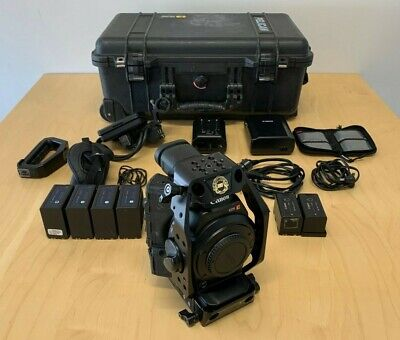 Canon C300 Mk I EF Mount + Redrock ultraCage, CF Cards, Batteries & Pelican Case