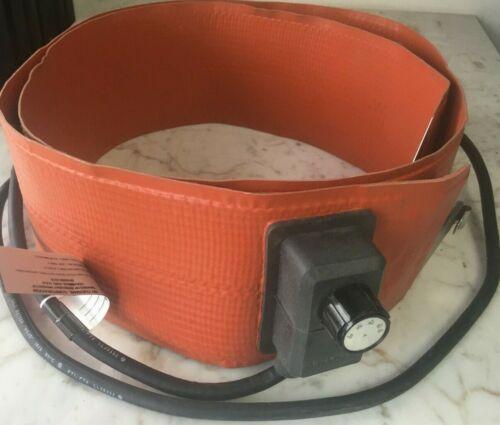 Heavy-Duty Silicone Rubber 55 Gallon Drum Heater BriskHeat  (DHCS15)