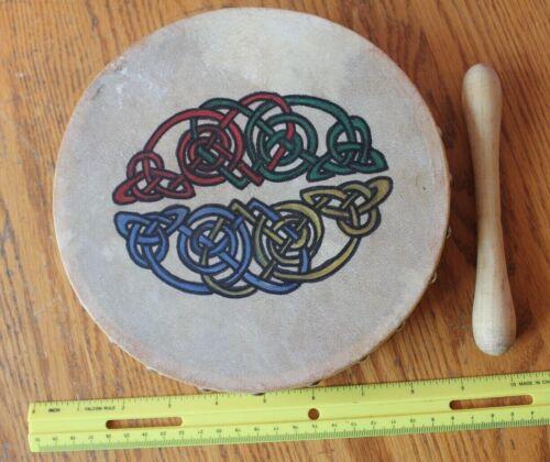 Malachy Kearns Genuine Goatskin Bodhrán Irish Drum Handmade in Ireland Vintage